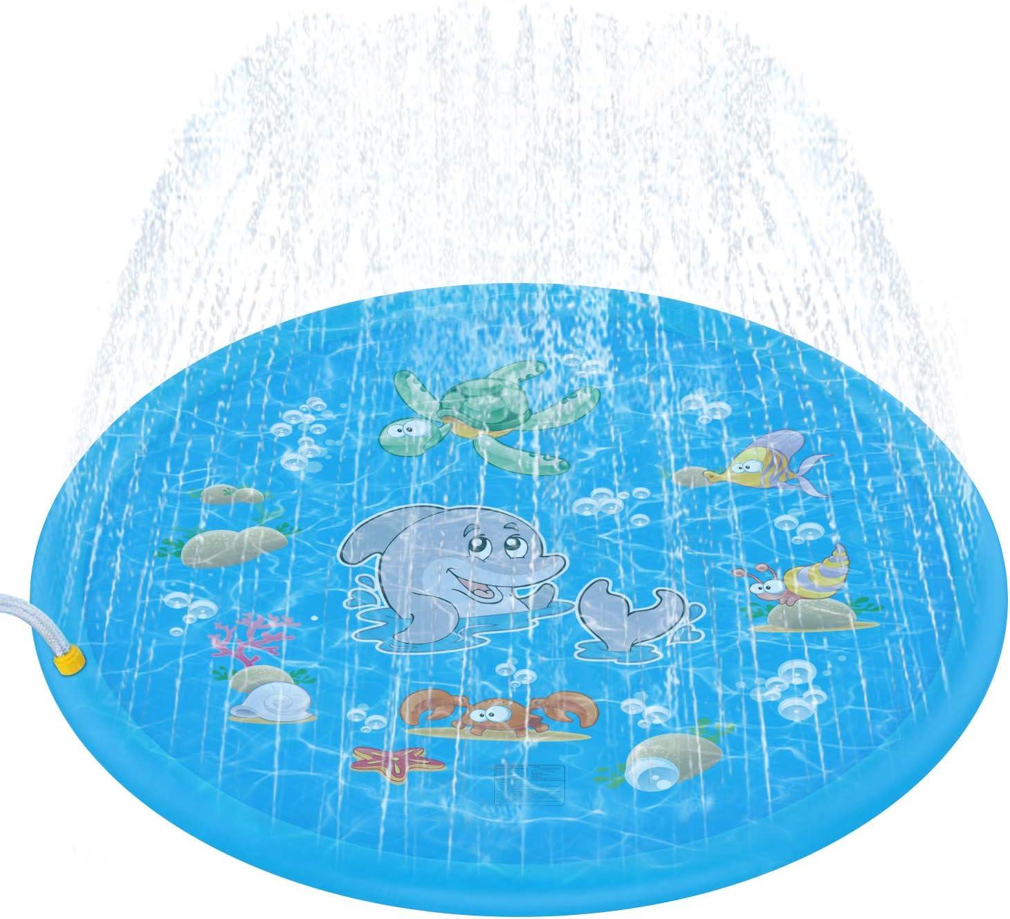 68 Sprinkler for Kids Pools for Kids Sprinkler /& Splash Play Mat for Boys Girls Babies Age 1-12 Summer Outdoor Toys for Toddlers PROLIFE Splash Pad for Kids