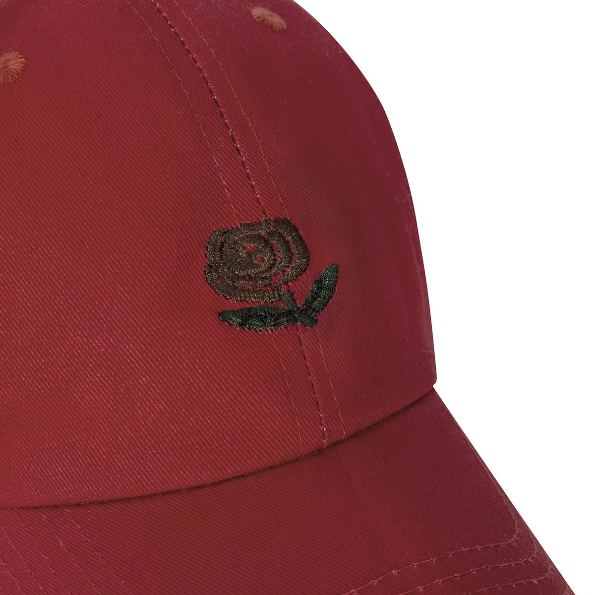 CHOSUR Embroidery Rose Flower Baseball Cap Cotton Adjustable Solid Color Fashion Dad Hat for Women Men Unisex(Red)