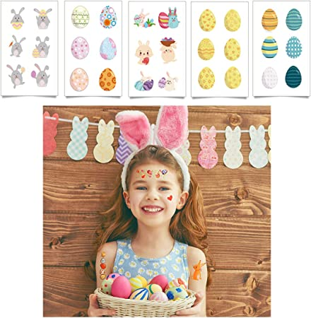 12 Decorate an Easter Egg Sticker Sheets for Kids Crafts