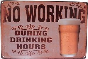 Strosportsandtech Beer Alcohol Drinking Funny Tin Sign Bar Pub Diner Cafe Wall Decor Home Decor Art Poster Retro Vintage
