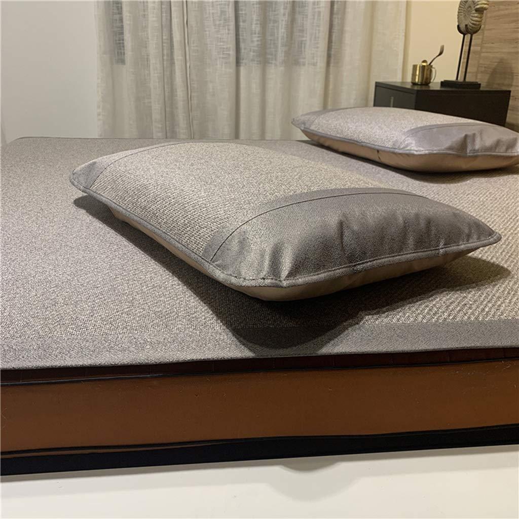 厚くされた藤は3組1.8mのベッドの自然な氷の絹のマットの夏の二重マットを着席させます (Color : Gray, Size : 150*200cm) B07TBFR7HF Gray 150*200cm