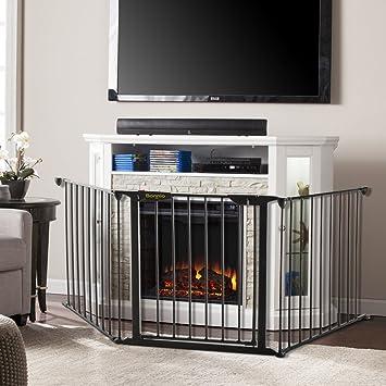 Amazon Com Bonnlo 73 Inch Metal Fireplace Fence Guard 3 Panel Baby