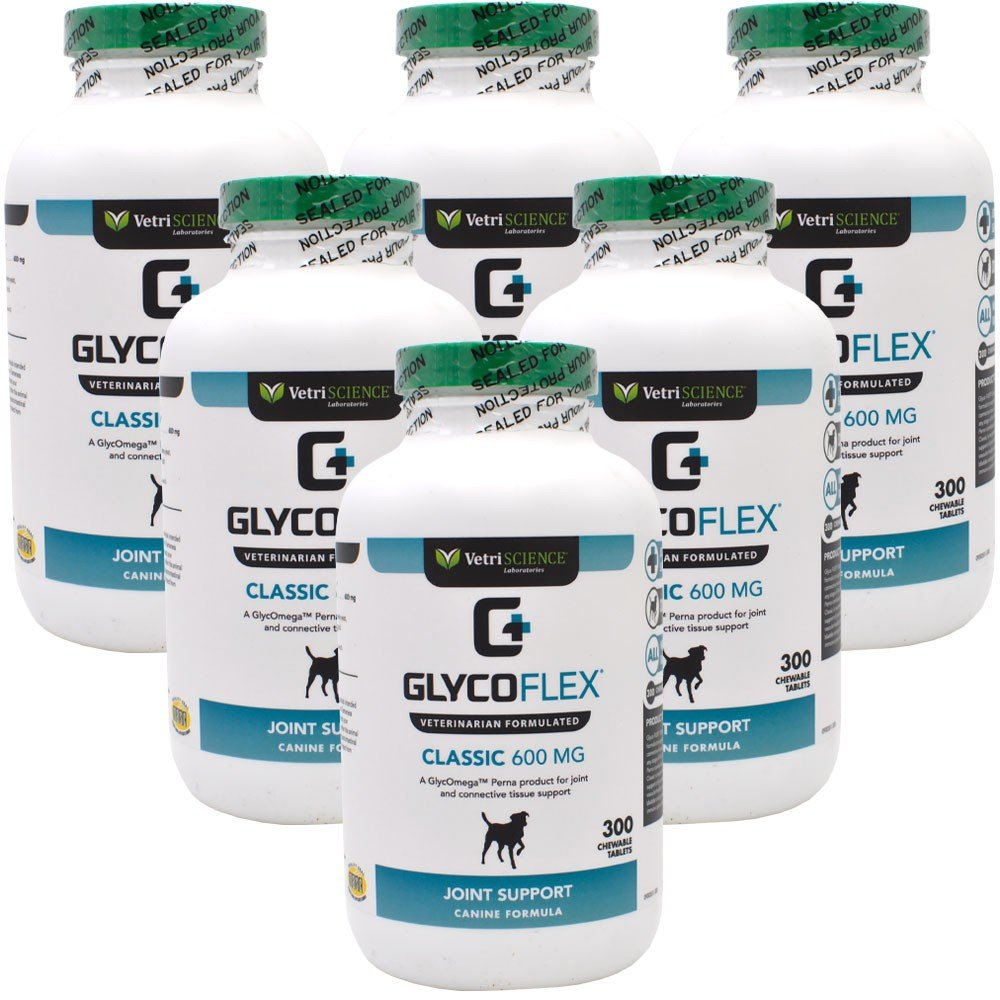 Glyco Flex Classic Hip and Joint Supplement for Dogs, 600 Mg, Chewable Tablets ( 6 pack )