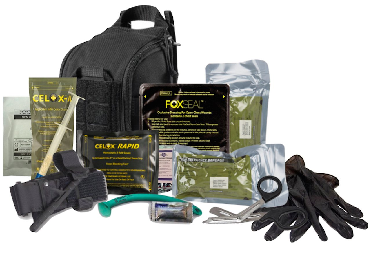 The 5.11 Advanced Trauma Kit is designed to be TCCC compliant, and has the ability to address the three leading causes of combat and tactical deaths