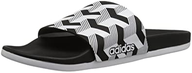 cheap for discount 97717 b0fff adidas Men s Adilette CF+ Link GR Slide Sandal, core black white core black