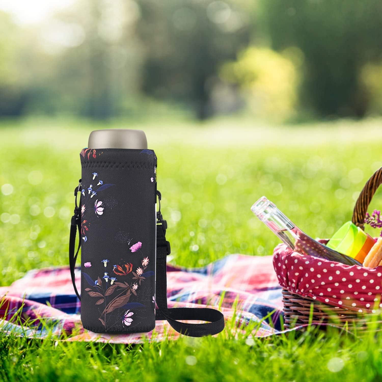 715F 2017 600ML Neoprene Water Bottle Shoulder Carrier Drink Sport Accessories