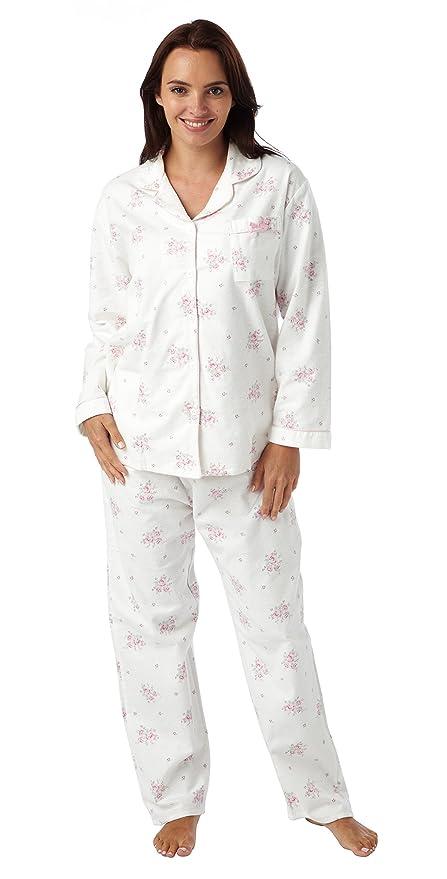 Ladies Blue Sea Wincyette Brushed 100/% Cotton Pyjamas 1545