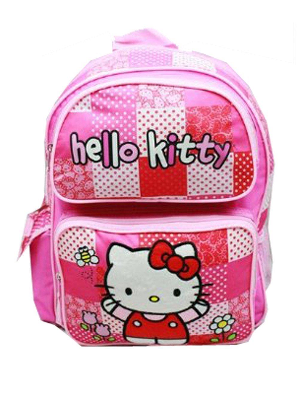 Medium Backpack - Hello Kitty - Pink/Red Box New School Bag 82415   B00AY8DX48
