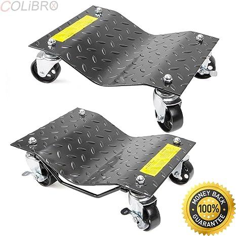 Colibrox - 1 par de neumáticos de rueda Dolly para coche de 30,48 cm x 40 ...