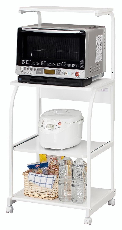 白井産業 【SHIRAI】 キャスター付きのレンジ台 キッチン収納 白 ホワイト ジェミアス GEM-1460 B003TW516Yハイタイプ