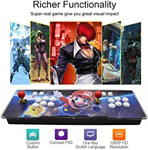 3D Consola de Videojuegos 1920 * 1080P Arcade Machine 2350 Juegos clásicos, Arcade Game Console TV Video Games Kit with 2 Joystick (Model: BZ-2350): Amazon.es: Deportes y aire libre