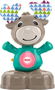 Fisher-Price Linkimals Musical Moose - Interactive Educational Toy with Music and Lights for Baby Ages 9 Months & Up