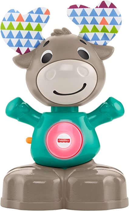 Fisher Price Linkimals Musical Moose Interactive Educational Toy With Music And Lights For Baby Ages 9 Months Up Toys Games