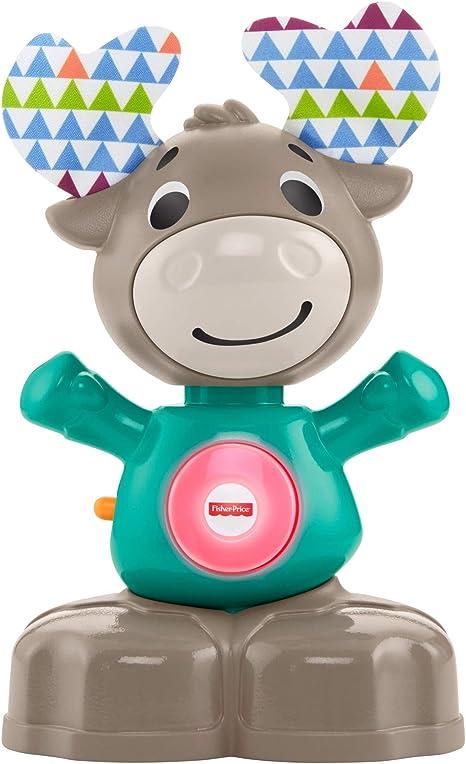 où puis je acheter vente énorme techniques modernes Fisher-Price Linkimals Nathan l'élan, jouet bébé interactif, sons et  lumières, version française, 9 mois et plus, GJB20