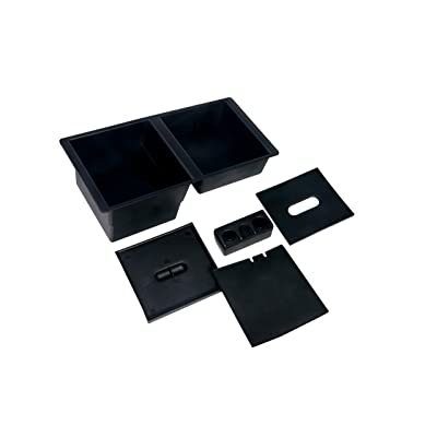 Center Console Organizer Tray - Replaces GM part 22817343 - Fits 2014-2020 Chevy Silverado 1500, 2500 HD, 3500 HD, Suburban, 3500 HD, Tahoe, GMC Sierra 1500, Limited, 2500, Yukon, XL - Full Tray: Automotive