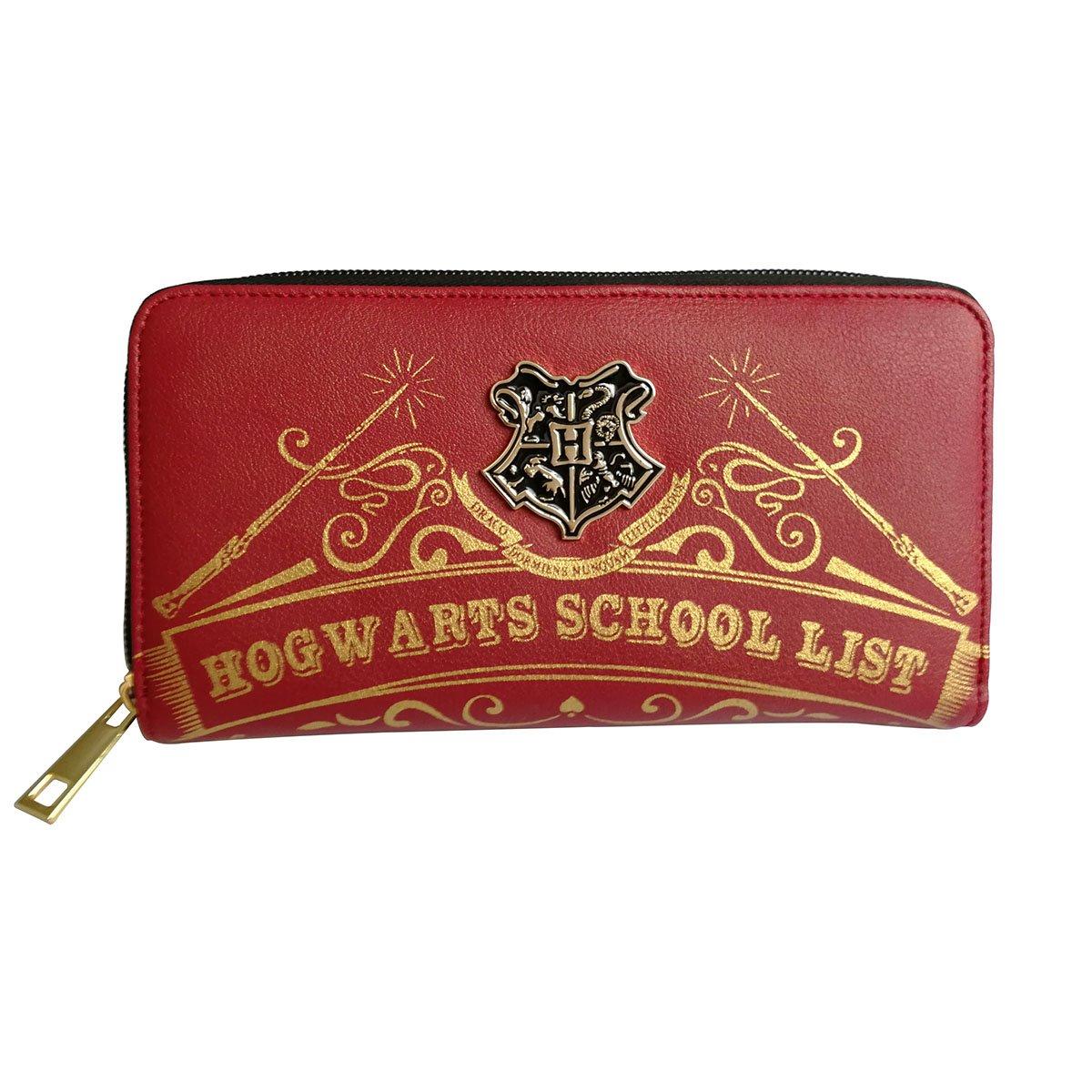 Wallets for Womens Harry Potter Hogwarts School Red Zipper Purse Clutch