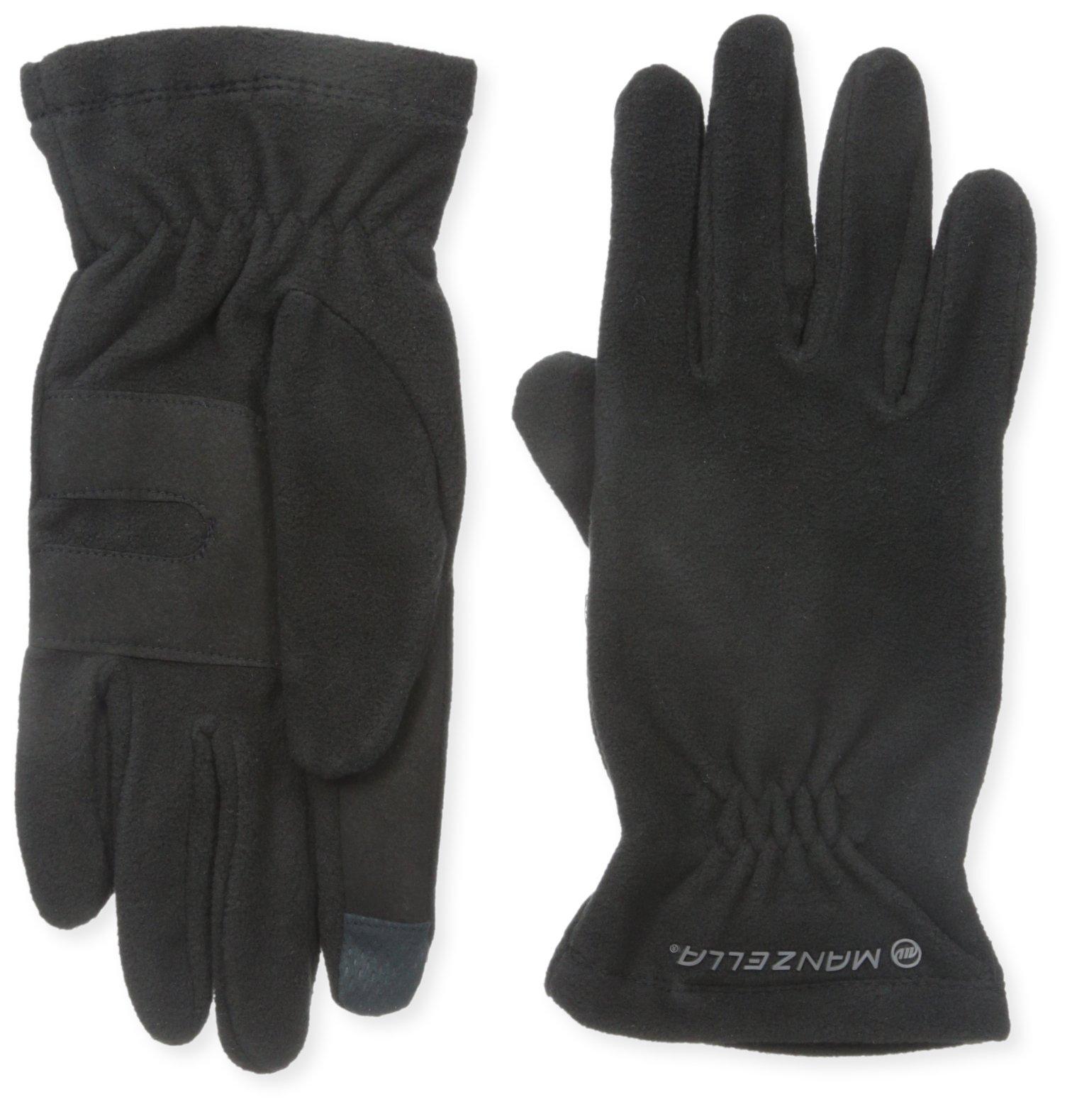 Manzella Men's Tahoe Ultra Touch Tip Gloves, Black, Large/X-Large