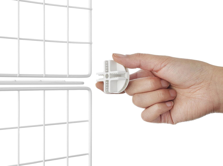 Whitmor 6071-968-WHT Weiße Aufbewahrungswürfel (6er-Set), Weiß ...