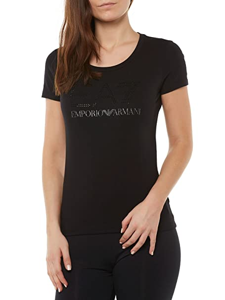Girl Emporio Strech Fresca T Ea7 Shirt Maglia Donna Armani Estate Spdq64C