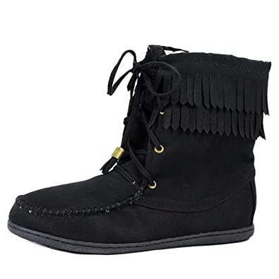 Tying-S Moccasin Boots