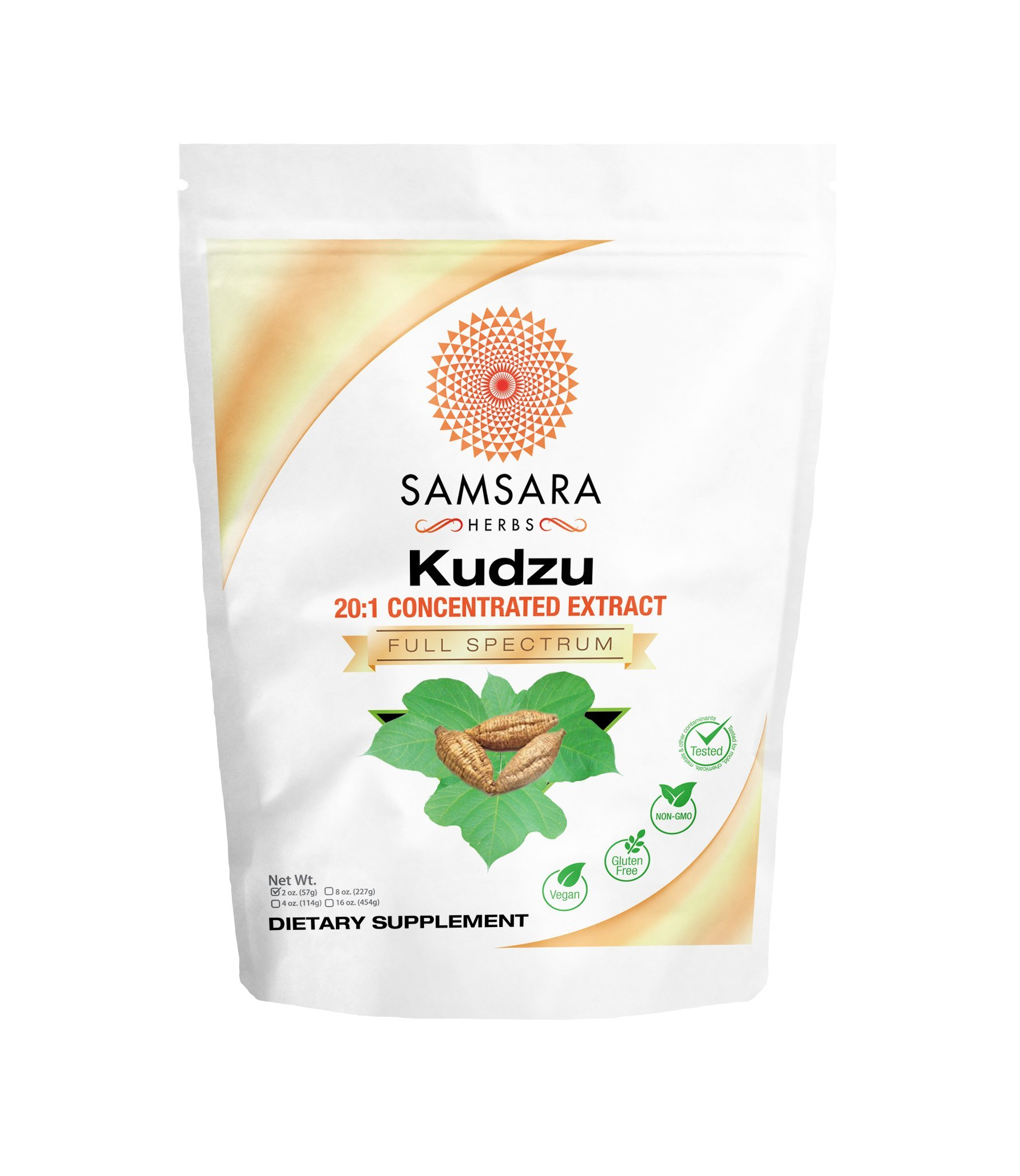 Kudzu Root Extract Powder (2oz / 57g) 20:1 Concentrated Extract
