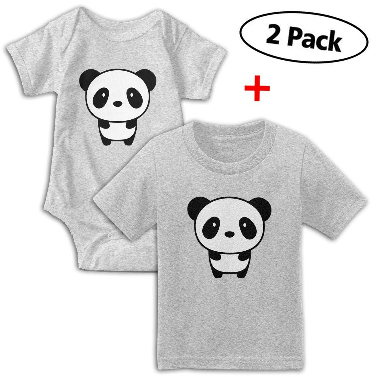 Panda Animal Babys Boys /& Girls Short Sleeve Jumpsuit Outfits and Tshirt