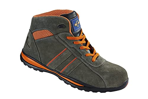Pro Man PM4060 S1P SRC Grey Orange Steel Toe Cap Hiker Style Safety Work Boots
