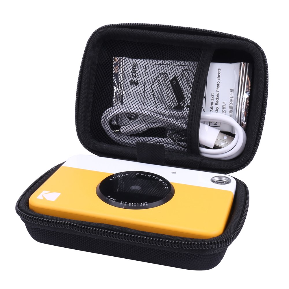 Hard Case for Kodak Printomatic Instant Print Camera fits ZINK 2x3'' Sticky-Backed Paper with Neck Strap by Aenllosi