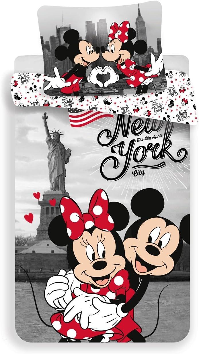 Jerry Fabrics Literie/Mickey /& Friends Caract/ère/ Housse de Couette 200x140x0,5 cm Multicolore Coton