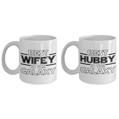 Best Hubby and Best Wifey in the Galaxy Mug Set - Unique Star Wars Themed Fan Gift