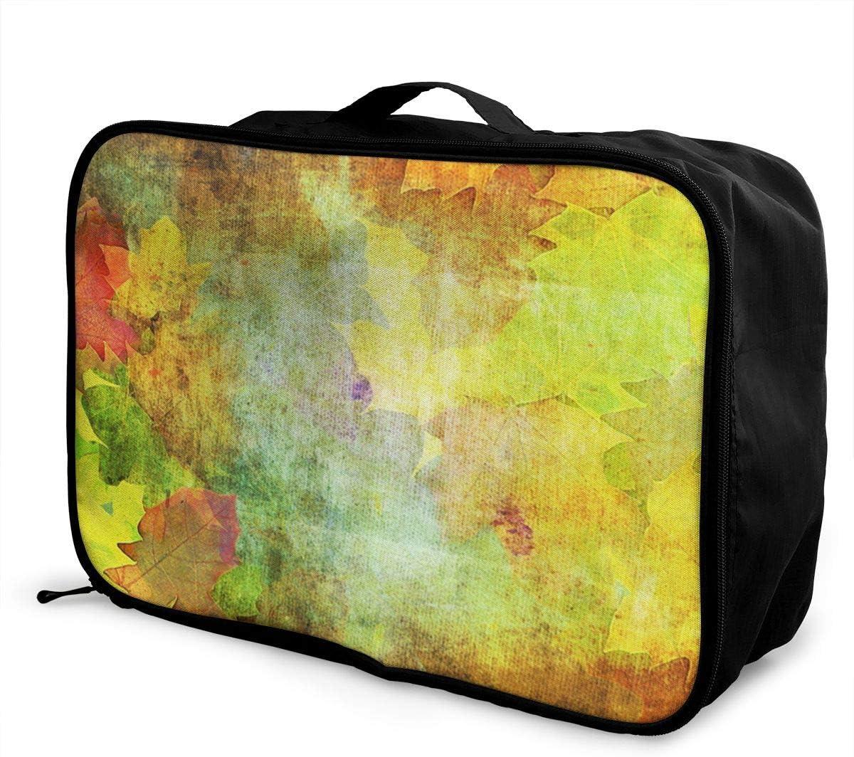October/_leaves Travel Carry-on Luggage Weekender Bag Overnight Tote Flight Duffel In Trolley Handle