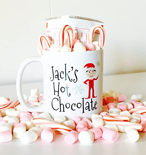 Personalized Hot Chocolate Mug With Cute Elf For Kids Kids Hot Chocolate Mugs Christmas Gifts For Kids