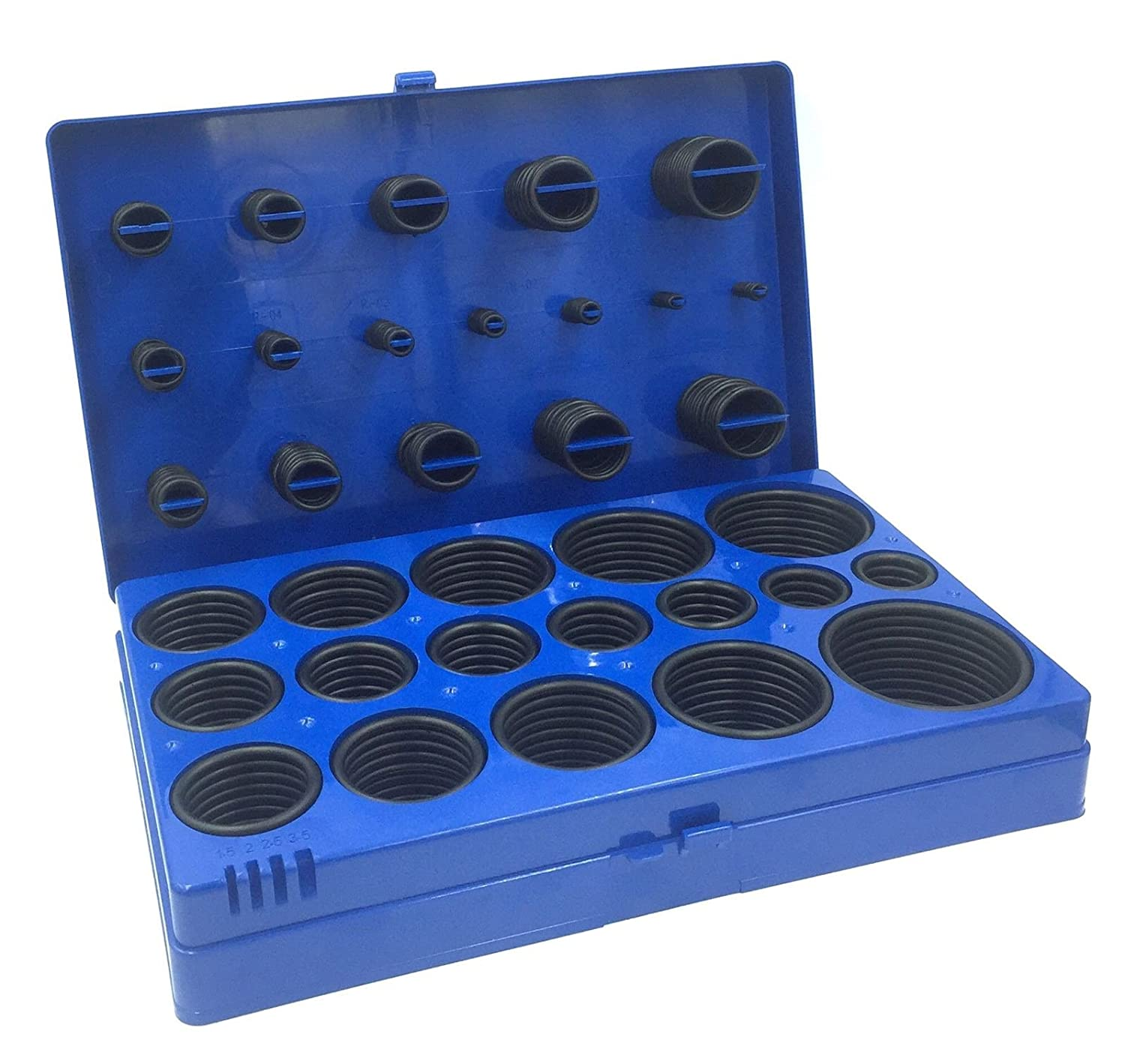 BRUFER 685153 O-Ring Assortment, 419-Piece Metric Set with Case