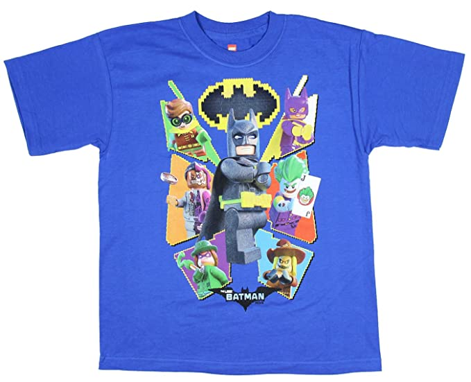 c424ef4c0 Boys DC Comics Lego Batman Movie Characters Blue Graphic T-Shirt - X-Large
