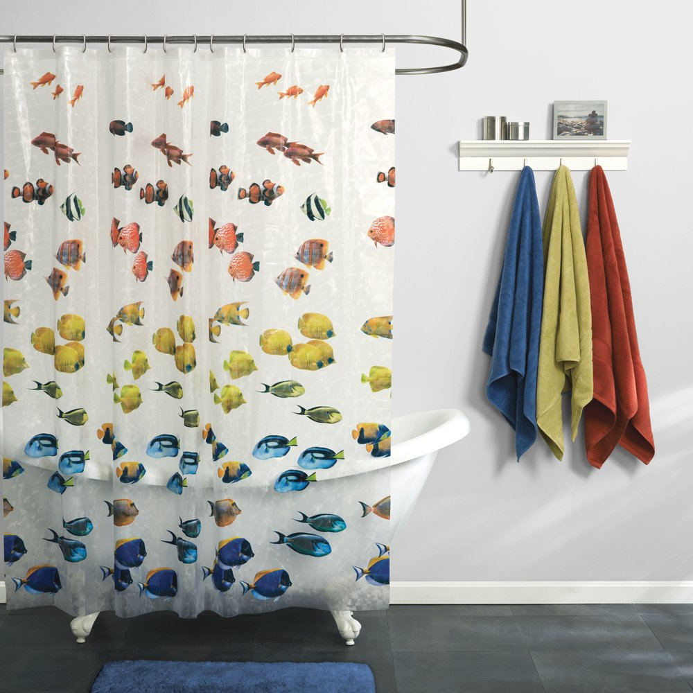 Amazon.com: Maytex Photoreal New School Waterproof PEVA Shower Curtain:  Home U0026 Kitchen