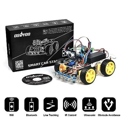 Osoyoo Arduino Robot Car Kit Uno R3 4wd Wifi Bluetooth Ir