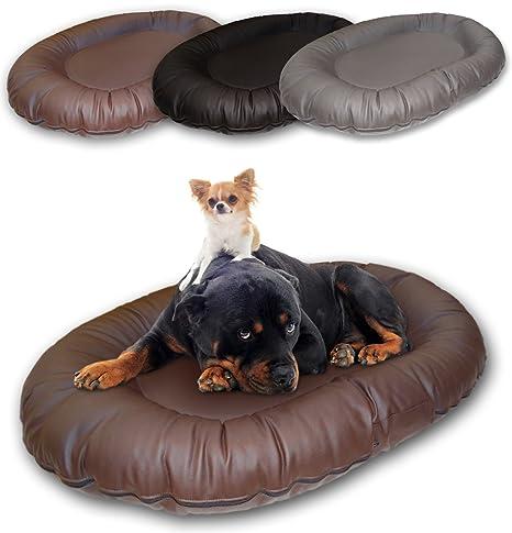 Cama para perros XXL piel sintética en gris, marrón o negro ...