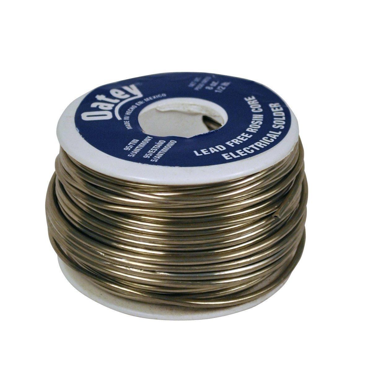 Oatey 53171 Rosin Core Wire Solder, 0.5 Lb Bulk, Solid, Gray 1/2 lb - - Amazon.com