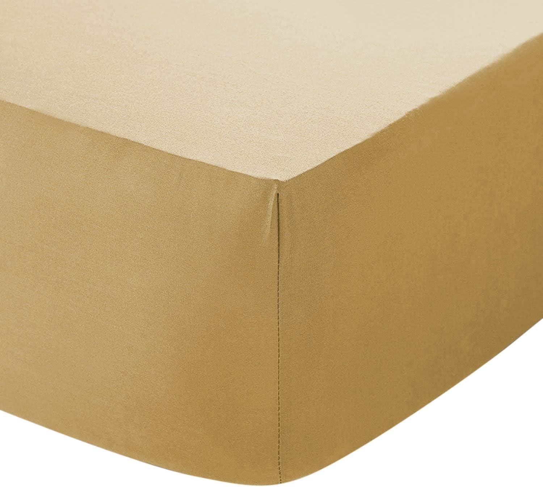 4 FT Small Double Blanco de 30 cm de profundidad S/ábana bajera ajustable de algod/ón egipcio de 200 hilos