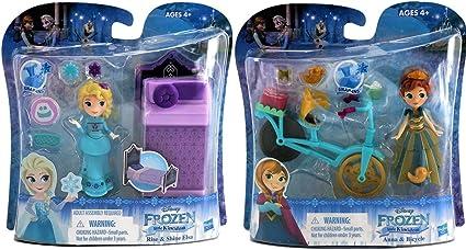Disney Frozen Little Kingdom Play Sets Anna Y Elsa Frozen 2 Juguetes Bundle Frozen Dolls Cake Toppers 2 Pack Toys Games