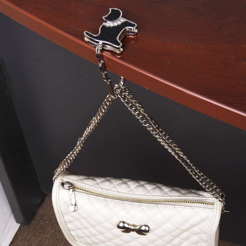 Gancio borsa Set di 4 pieghevole Gancio per borsa a mano tavolo Gancio borse Titolare per Donne Ragazza Borsa Drogheria Regalo