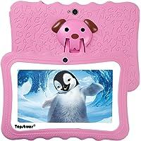 """TOPSHOWS Kids Tableta,Tableta de niños,7""""HD XGA,RAM 1 GB,ROM 8 GB,Quad Core,Android 4.4 WiFi,Rosa"""