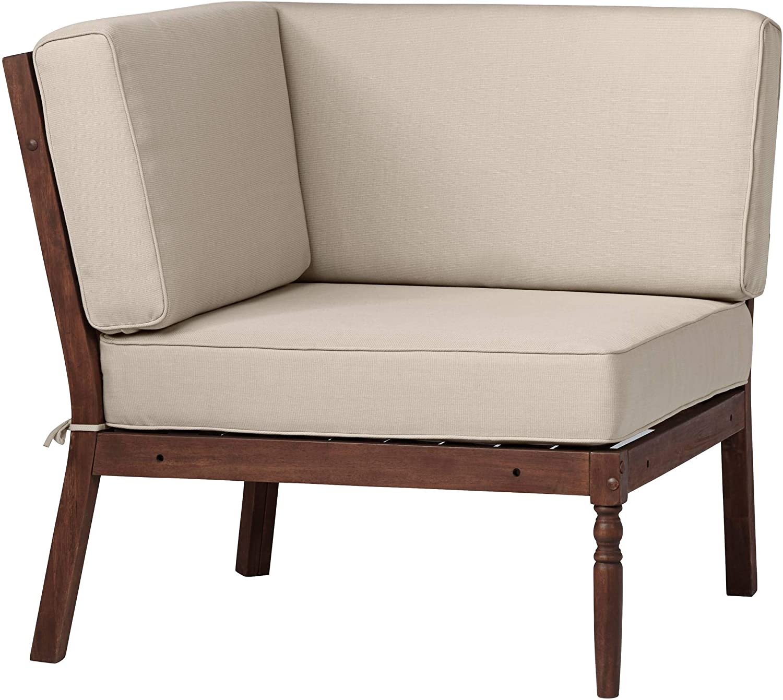 Napa Modular Natural Dark Oil Acacia Corner Chair - Teal Island Designs