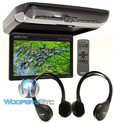 Alpine PKG-RSE3HDMI 10.1 Overhead Flip Down WSVGA Monitor with Built-in DVD Player, USB and HDMI Inputs