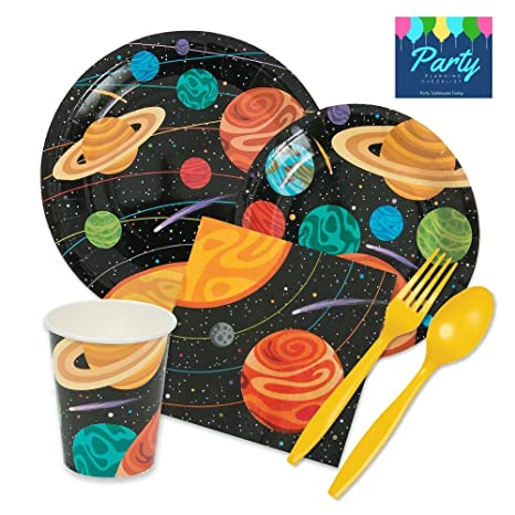 Party Tableware Today Space Party Supplies Pack for 16 Guests Includes Plates Napkins Cups  sc 1 st  Amazon.com & Amazon.com: Party Tableware Today Space Party Supplies Pack for 16 ...