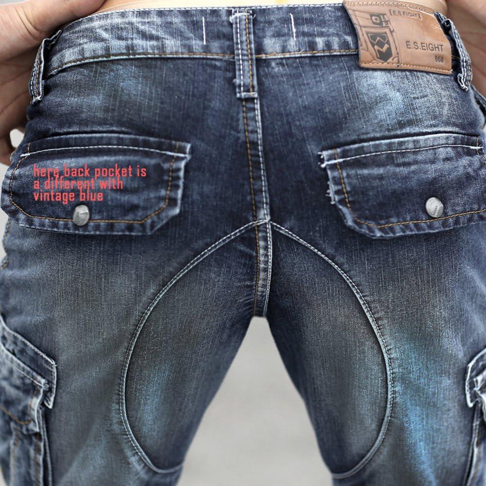 Idopy Short Cargo en Jean pour Hommes avec Cargo