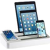 Callstel Multi-Lade-Handyständer: 4in1-Universal-Ladeständer für Tablets und Smartphones (Schreibtisch-Lade-Organizer)