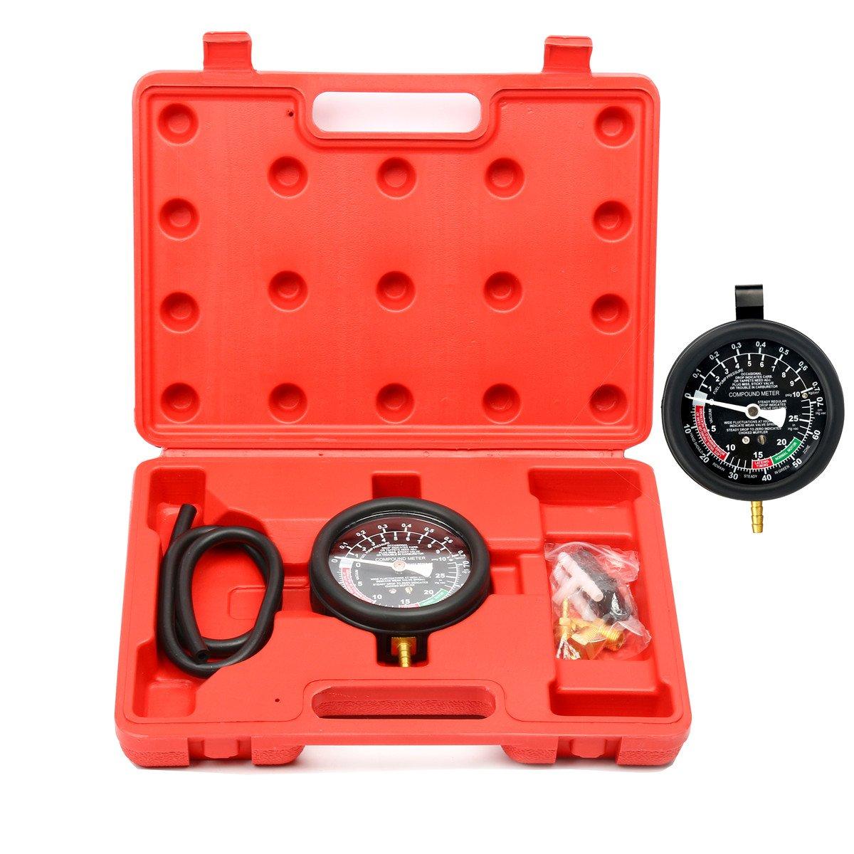 FreeTec - Kit manometro per misurare la pressione della pompa del carburante e del carburatore freebirdtrading