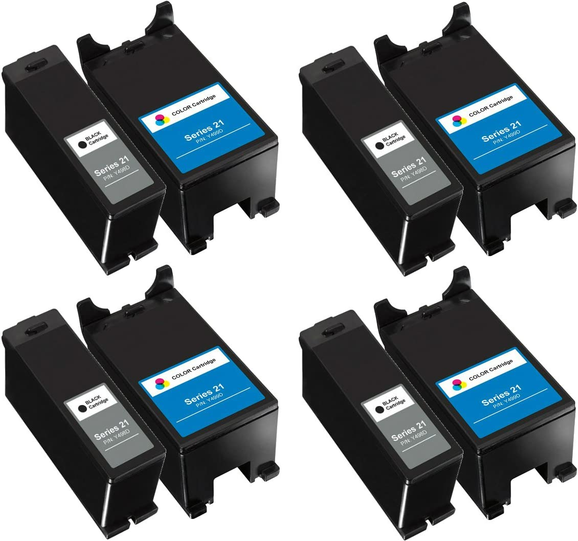 2 Compatible T092N X738N for Dell Color Ink Cartridge Series 22 P513w V313 V313w