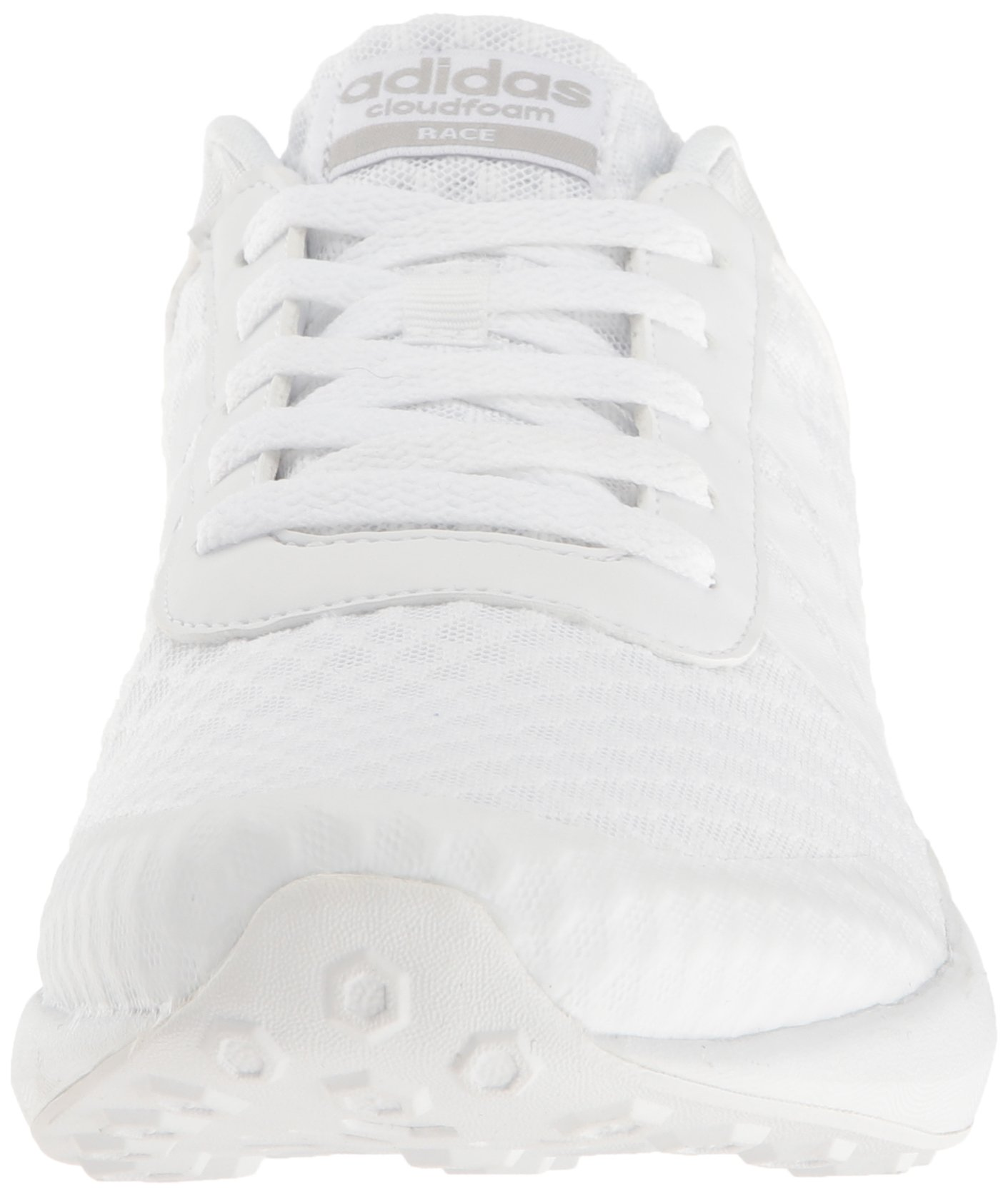 adidas Men's Cloudfoam Race Running Shoe, White/Clear Onix, 9 D-Medium by adidas (Image #4)